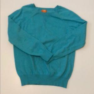 Crew neck aqua sweater